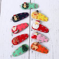 christmas hair accessories baby hair accessory christmas hair clip baby clip diy hair clip