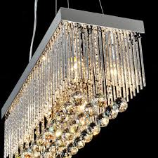 Rectangular Chandelier With Crystals Adorable Rectangular Crystal Chandelier On Interior Home Design