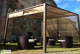 tonnelle de jardin avec moustiquaire tonnelle pergola aluminium brise soleil 3x3 capuccino tonnelle