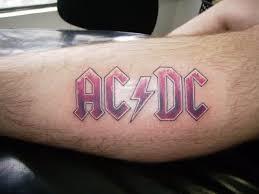 ac dc heavy metal tattoo