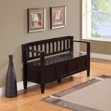 Black Indoor Bench - bathroom front entry bench with storage 40 inch wide bench black