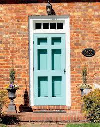 Front Door Paint Colors by Front Door Color Orange Brick House Teal Paint Colors Teal Front