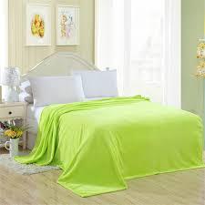 jeter un canapé flanelle couverture vert plaid doux blandets jeter sur canapé