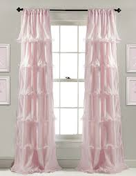 Baby Curtains Sheer Floor Length Pink Ruffled Curtains For A Baby Nursery