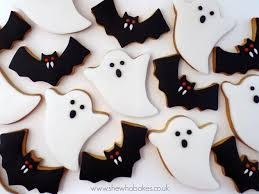 Bat Cookies For Halloween by Halloween Cookies She Who Bakes
