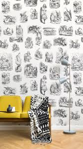 transform your family home into a world of fairytales with these alice in wonderland wallpaper mural