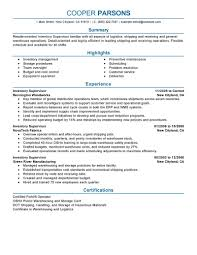 Manager Sample Resume Best Inventory Supervisor Resume Example Livecareer