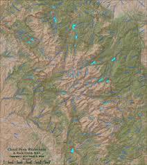 Wyoming Topo Map Cloud Peak Wilderness Maps
