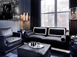 Black Leather Sofa Living Room Design Adorable Masculine Living Room Design Ideas Together With Brown