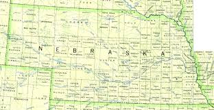 United States Map With State Names by Nebraska Outline Maps And Map Links