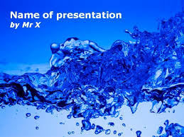Water Powerpoint Templates by Burst Of Water Powerpoint Template