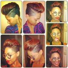 hair cuts that are shaved on both sides and long on the top for women this is ca yuute auburn shaved sides short hair cut in
