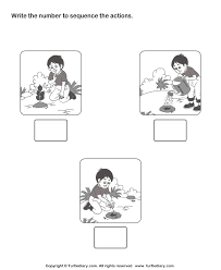 pictures on free printable sequencing worksheets for kindergarten