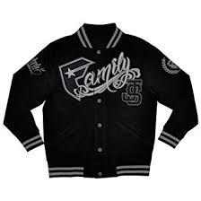 and straps mens js family varsity fleece jacket x