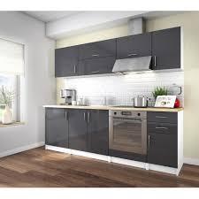 cuisine en gris arty cuisine complète 2m40 laqué gris haute brillance achat