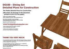 Free Wooden Dining Table Plans by Home Garden Plans Ds100 Dining Table Set Plans Woodworking