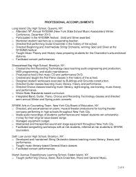Sample Music Teacher Resume by 100 Music Resume Sample Resume For A Highschool Student