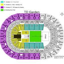 Td Garden Layout Detailed Seat Row Numbers End Stage Concert Sections Floor