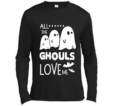 all the ghouls love me halloween bat shirt scary ghost gift