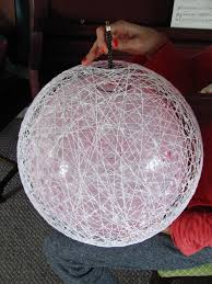 carey creates diy string chandelier