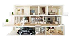 house design plans 3d 3 bedrooms 3d floor plan renderings planos casa pinterest 3d townhouse