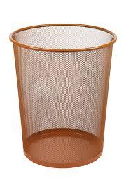 Waste Paper Bins Large Colourful Mesh Waste Paper Basket Office Metal Dustbin