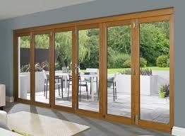 Wooden Bifold Patio Doors Brown Wooden Bifold Patio Doors In Large Size Jpg