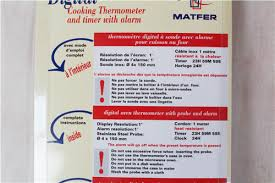 thermom鑼re sonde cuisine 優惠商品 法國matfer電子溫度計0 300度 含電池固定架 mt072266 mt250510