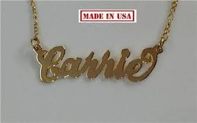 personalized gold necklace name 14k gold overlay any name necklace name plate personalized chain