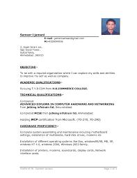 Resume Format Hotel Management Resume Format It Template