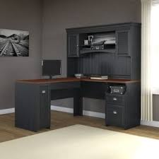 L Shaped Desk Fairview L Shaped Desk With Hutch Free Shipping Today