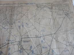 Normandy France Map Operation Totalize Original Canadian Secret Map Normandy