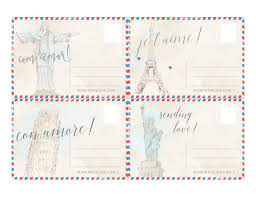 free printable postcards from around the world word traveling