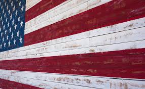 wooden united states wall american or united states flag painted on a wooden plank wall