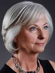 short bob hairstyles for triangle shaped face older women with