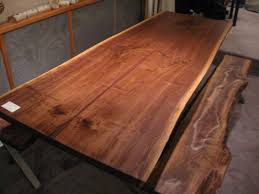 custom made dining room tables handmade walnut live edge slab x base table by woodrich