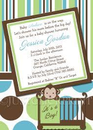 monkey baby shower invitations for boy u2013 gangcraft net