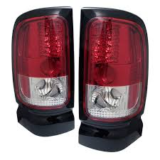 dodge ram led tail lights ram 94 01 led tail lights red clear