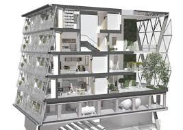 Vertical Agriculture On Apartment Block Concept Design CONTAINER - Sustainable apartment design