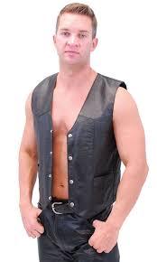 biker vest classic biker leather vest lightweight vm950pk