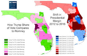 Central Florida Map Presidential Results By Florida Senate District And The Impact Of