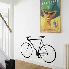 racing bike wall sticker bicycle wall decor