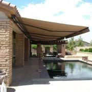 How Much Are Awnings Aleko Retractable Patio Awning 10 U0027 X 8 U0027 3m X 2 5m Solid Green