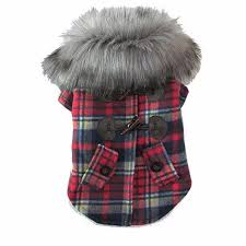 teddy clothes pet dog coat plaid pattern puppy jacket costume teddy clothes with