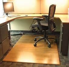 bamboo chair mat for office carpet or wood floors