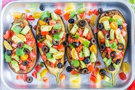 taco stuffed eggplant boats for creative clean eating clean