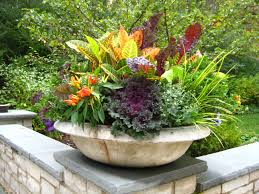 fall season flower container ideas midwestern plants