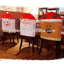 christmas chair back covers cheap kitchen dining room chair back cover santa snowman reindeer