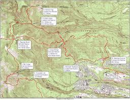 Map Run Route by Jemez Mountain Trail Run World U0027s Marathons