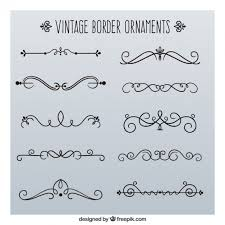 vintage border ornaments vector free